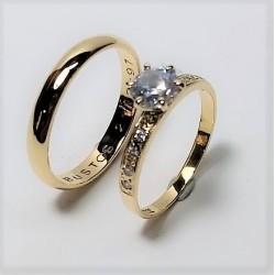 Argollas De Matrimonio Oro18k Diseño Prince