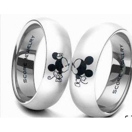 Argollas Matrimonio en Plata medias Caña diseño