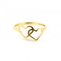 Anillo Corazon doble en oro 18k