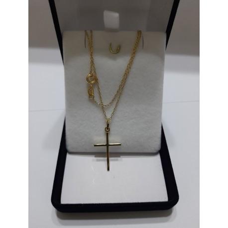 Cadena de Oro 18k más Colgante Cruz