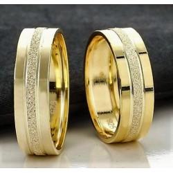 Argollas de Matrimonio Planas Diseño 18kt