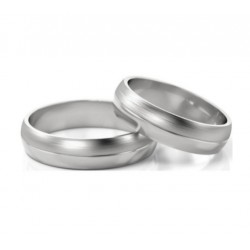 Argollas de Matrimonio medias cañas  en Plata 950