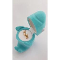 Aros de Oro 18k. con Perla Cultivada Bebe