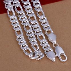 Cadena Para hombre de10  mm Rodinada en plata 925