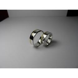 Argollas de Matrimonio Bicolor con  diamante (anillo novia)