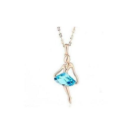 Colgante Bailarina Con circon + Cristales Swarovski elements