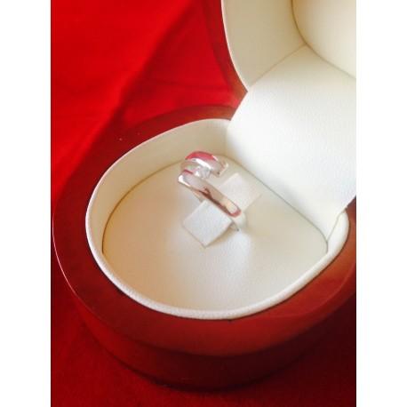 Anillos Modelo VENUS Oro Blanco y Diamante