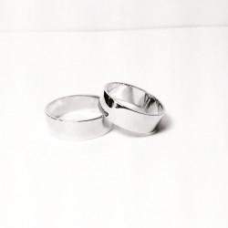 Argollas de Matrimonio Oro Blanco 18k Planas