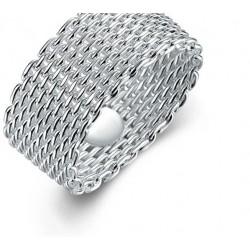 anillo Plata 925 modelo Malla