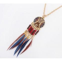 Collar Etnico Plumas
