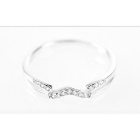 Anillo Modelo Amoris Oro Blanco 13 diamantes