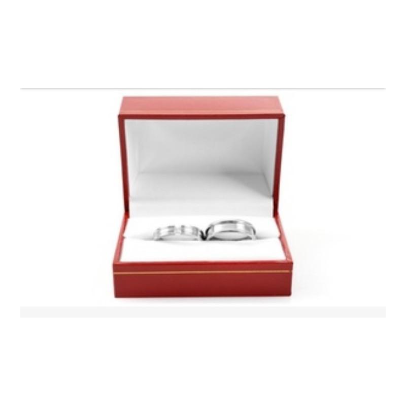 be9586a25813 ... Argollas de matrimonio en oro blanco modelo Toda la Vida con diamante  de 10 puntos