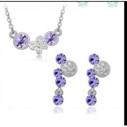 Conjunto de Cristal  Swarovski elements  mariposa lila
