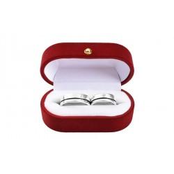 Argollas de matrimonio en plata fina 980 diseño 2