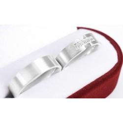 Argollas de matrimonio en plata fina 980 diseño 1