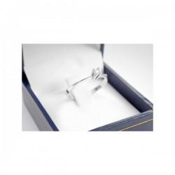 Anillo Solitario Oro Blanco con Diamante 20 Puntos