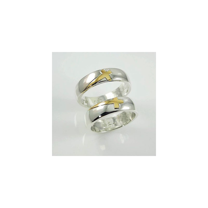 628b0f7a495b Argollas de Oro Blanco y Amarillo