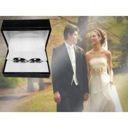 Argollas de Matrimonio Oro Blanco 18k  -  8 Gramos