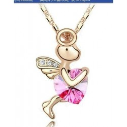 Cupido Bañado en Oro con cristal Austriaco