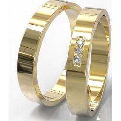 Argollas de Oro 18k con Diamantes