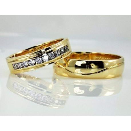 Argollas de matrimonio 18k cin cristales