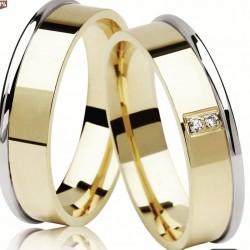 Argollas De Matrimonio en Oro Amarillo 18 y Oro Blanco 18k