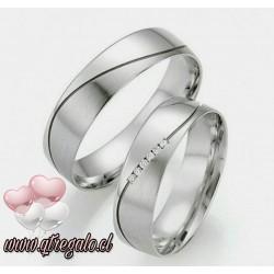 Argollas de Matrimonio Love en Plata fina