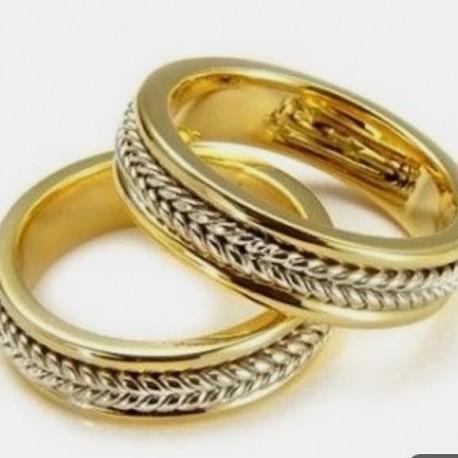 91cc9a9ec9d3 Argollas de Matrimonio en Oro18k trenzado