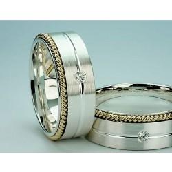 Argollas de Matrimonio En Plata Fina y Oro 18k