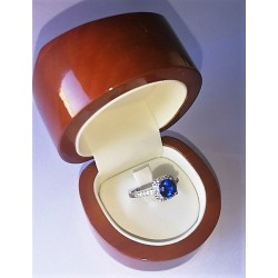 Anillo Compromiso Princesa   Kate    Oro Blanco  y Diamantes