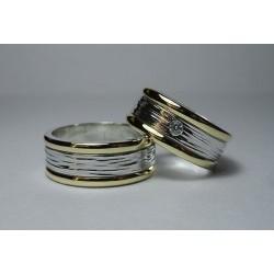 Argollas de Matrimonio Oro 18k y Plata fina