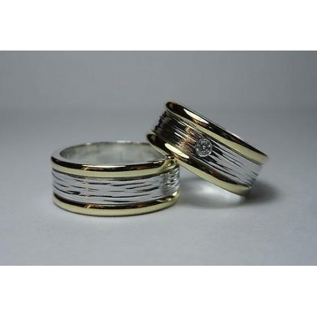 0f62e78140c3 Argollas de Matrimonio Oro 18k y Plata fina - QTRegalo