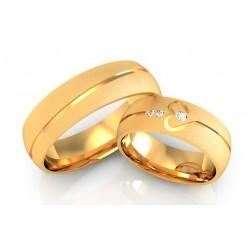 Argollas de Oro  18k corazon infinito