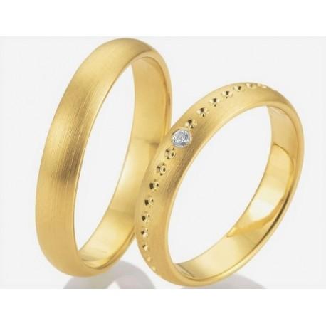 Argollas diseño en oro 18k