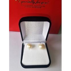 Aros de Oro 18k con perla 10mm  adulto