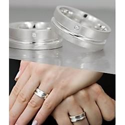 Argollas de Matrimonio en Plata Tu y Yo