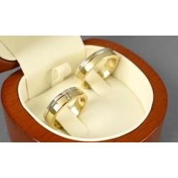 Argollas Bicolor En Oro Blanco Diseño Plano Con Diamantes