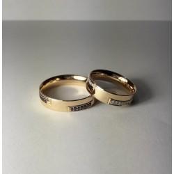 Argollas de Matrimonio en Oro 18k Almas Gemelas