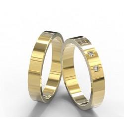 Argollasen Oro Con Diamantes