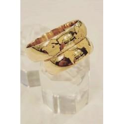 Argollas en oro 18 k Diseño con Amor