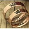 Argollas de Matrimonio Diseño especial en Oro 18k