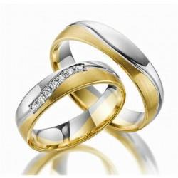 Argollas Bicolor Oro Blanco y Amarillo Diseños especial