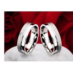 Argollas de Matrimonio de Plata fina con circòn