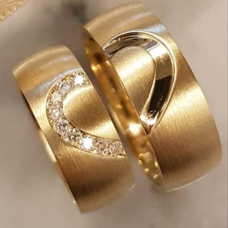 Argollas de Oro 18k diseño Corazón