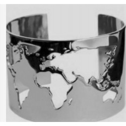 Brazalete Mundo en Plata
